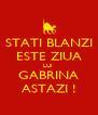 STATI BLANZI ESTE ZIUA LUI  GABRINA ASTAZI ! - Personalised Poster A4 size