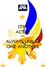 STAY ACTIVE and  ALWAYS UNILAB ONE ANOTHER - Personalised Poster A4 size