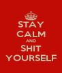 STAY CALM AND SHIT YOURSELF - Personalised Poster A4 size