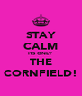 STAY CALM ITS ONLY THE CORNFIELD! - Personalised Poster A4 size