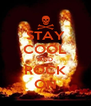 STAY COOL AND ROCK ON - Personalised Poster A4 size