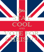 STAY COOL AND VOTE FOR CHRIS!!!!! - Personalised Poster A4 size