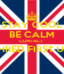 STAY COOL BE CALM CONTACT  SHRED FIRST UK  - Personalised Poster A4 size