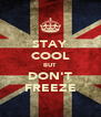 STAY COOL BUT DON'T FREEZE - Personalised Poster A4 size
