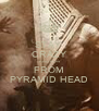 STAY  CRAZY AND RUN FROM PYRAMID HEAD - Personalised Poster A4 size