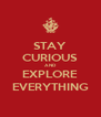 STAY CURIOUS AND EXPLORE EVERYTHING - Personalised Poster A4 size