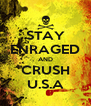 STAY ENRAGED AND CRUSH U.S.A - Personalised Poster A4 size