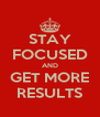 STAY FOCUSED AND GET MORE RESULTS - Personalised Poster A4 size