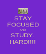 STAY FOCUSED AND STUDY. HARD!!!! - Personalised Poster A4 size