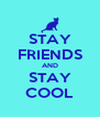 STAY FRIENDS AND STAY COOL - Personalised Poster A4 size