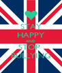 STAY HAPPY AND STOP  BULLYING - Personalised Poster A4 size