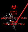 STAY  SITH AND LET THE HATE FLOW THROUGH YOU - Personalised Poster A4 size