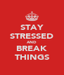 STAY STRESSED AND BREAK THINGS - Personalised Poster A4 size