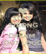 STAY  STRONG AND DREAM  OUT LOUD - Personalised Poster A4 size