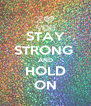 STAY STRONG  AND HOLD ON - Personalised Poster A4 size