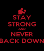 STAY STRONG AND NEVER BACK DOWN - Personalised Poster A4 size