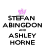 STEFAN  ABINGDON AND ASHLEY HORNE - Personalised Poster A4 size