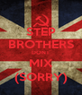 STEP BROTHERS DONT MIX (SORRY) - Personalised Poster A4 size