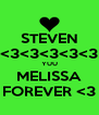 STEVEN <3<3<3<3<3 YUU MELISSA FOREVER <3 - Personalised Poster A4 size