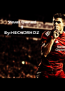 Steven Gerrard 8 By:HECttORHDZ - Personalised Poster A4 size