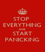 STOP  EVERYTHING AND START PANICKING - Personalised Poster A4 size
