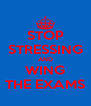 STOP STRESSING AND WING THE EXAMS - Personalised Poster A4 size