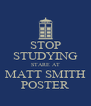 STOP STUDYING STARE AT MATT SMITH POSTER - Personalised Poster A4 size
