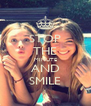 STOP THE MINUTE AND SMILE - Personalised Poster A4 size