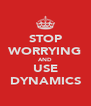 STOP WORRYING AND USE DYNAMICS - Personalised Poster A4 size