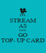 STREAM AS KIDS GO TOP- UP CARD - Personalised Poster A4 size