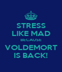 STRESS LIKE MAD BECAUSE VOLDEMORT IS BACK! - Personalised Poster A4 size