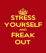 STRESS YOURSELF AND FREAK OUT - Personalised Poster A4 size