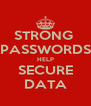 STRONG  PASSWORDS HELP SECURE DATA - Personalised Poster A4 size