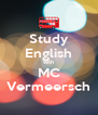 Study English with MC Vermeersch - Personalised Poster A4 size
