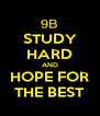 STUDY HARD AND HOPE FOR THE BEST - Personalised Poster A4 size