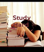 Study Hard     - Personalised Poster A4 size