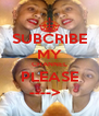 SUBCRIBE MY CHANNEL PLEASE ---->   - Personalised Poster A4 size