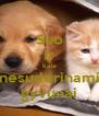 Suo ir kate nesuderinami gyvunai - Personalised Poster A4 size