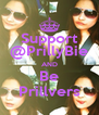 Support @PrillyBie AND Be Prillvers - Personalised Poster A4 size