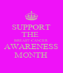 SUPPORT THE  BREAST CANCER AWARENESS MONTH - Personalised Poster A4 size