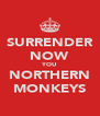 SURRENDER NOW YOU NORTHERN MONKEYS - Personalised Poster A4 size