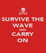 SURVIVE THE WAVE AND CARRY ON - Personalised Poster A4 size
