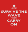 SURVIVE THE WAVE THEN CARRY ON - Personalised Poster A4 size