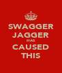 SWAGGER JAGGER HAS CAUSED THIS - Personalised Poster A4 size