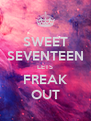 SWEET SEVENTEEN LETS FREAK OUT - Personalised Poster A4 size