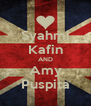 Syahmi Kafin AND Amy Puspita - Personalised Poster A4 size