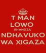 T MAN LOWO  RHANDZA NDHAVUKO WA XIGAZA - Personalised Poster A4 size