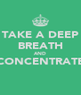 TAKE A DEEP BREATH AND CONCENTRATE  - Personalised Poster A4 size