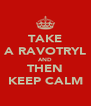 TAKE A RAVOTRYL AND THEN KEEP CALM - Personalised Poster A4 size