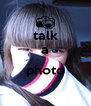 talk a  photo  - Personalised Poster A4 size